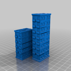 res3_m_D_1_2_3.png Download free STL file Residential Buildings for 6mm / 1:285 scale gaming sample • 3D printer design, Tinnut