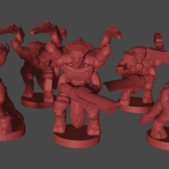 warriors.png Download free STL file Epic scale (6mm) Space Bug Soldiers • 3D printable template, Tinnut