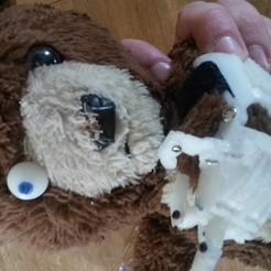 Download free 3D printing designs Teddybear Eye - laser shooting bug killing cyber teddy, Milan_Gajic
