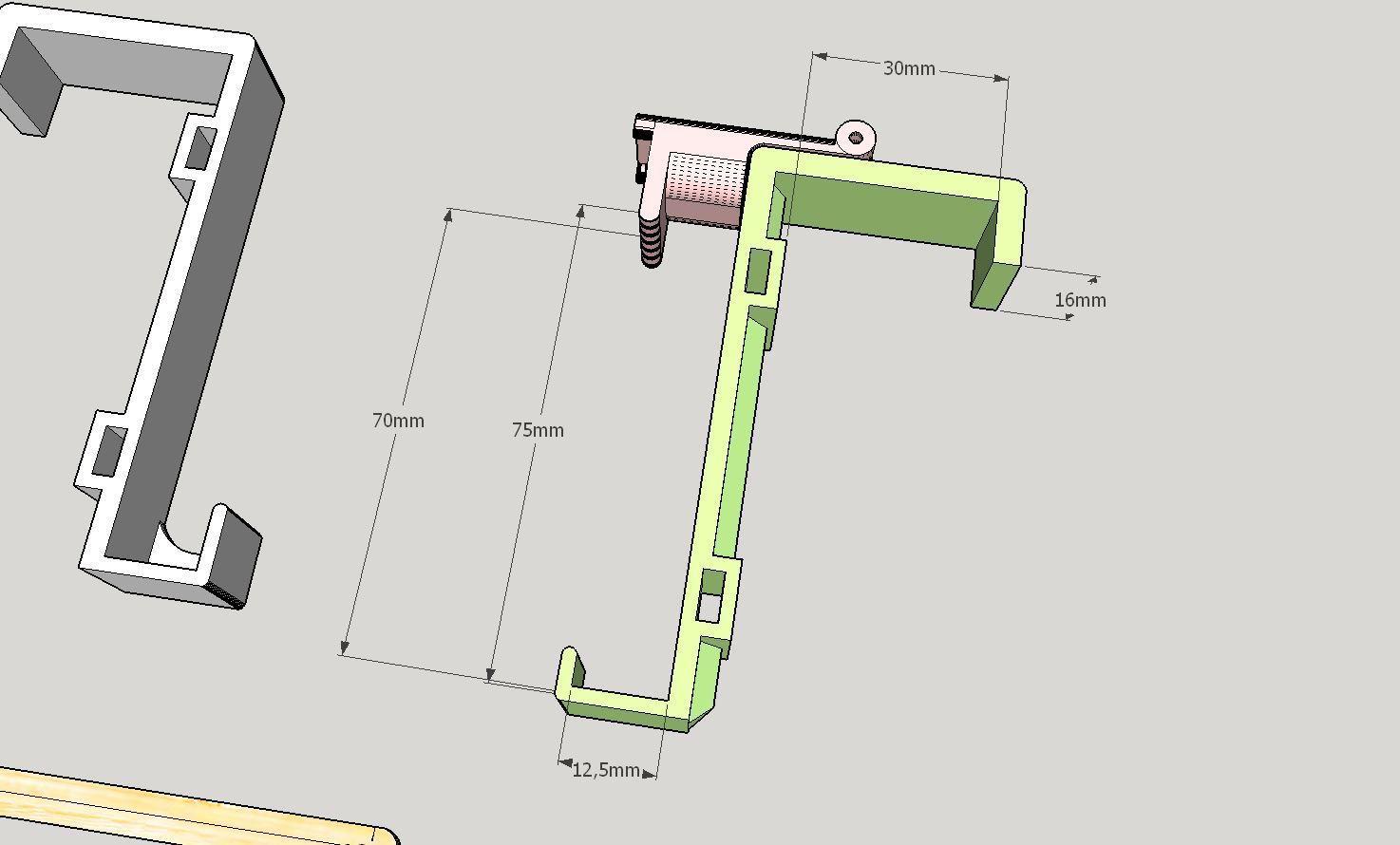 2019-09-21_11_05_00-Untitled_-_SketchUp_Make_2016.jpg Télécharger fichier STL gratuit Support de téléphone pour lit IKEA STUVA / FRITIDS • Plan pour impression 3D, Milan_Gajic