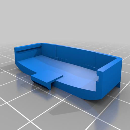 """HormannBattCover.png Télécharger fichier STL gratuit Couvercle de la batterie de la télécommande Hormann (version """"meh"""") • Plan pour impression 3D, Milan_Gajic"""