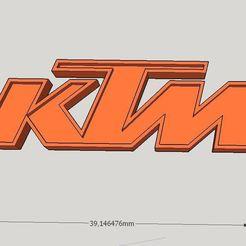 Download free STL file KTM logo keychain • 3D printing object, Milan_Gajic