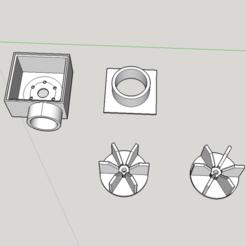 Descargar STL gratis Aspiradora con motor de CD - soplador centrífugo, Milan_Gajic