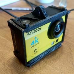 Download free 3D printing models Andoer Action Cam lanyard frame, Milan_Gajic