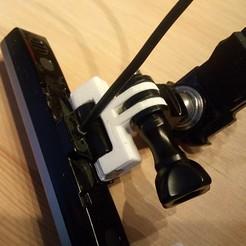 Download free STL files LG AN-VC400 Webcam to GoPro mount adapter, Milan_Gajic