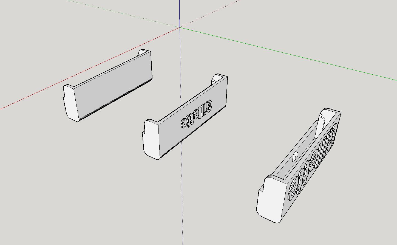 2019-08-21_19_04_40-GilletteCap_-_SketchUp_Make_2016.png Télécharger fichier STL gratuit Couverture de lame de rasoir pour le rasoir Gillette Mach 3 Sensitive Power • Plan pour imprimante 3D, Milan_Gajic