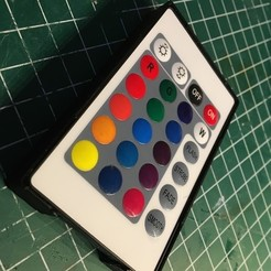 IMG_0162.JPG Download free STL file RGB Led Strip IR Remote Magnetic Case • 3D printer model, Milan_Gajic