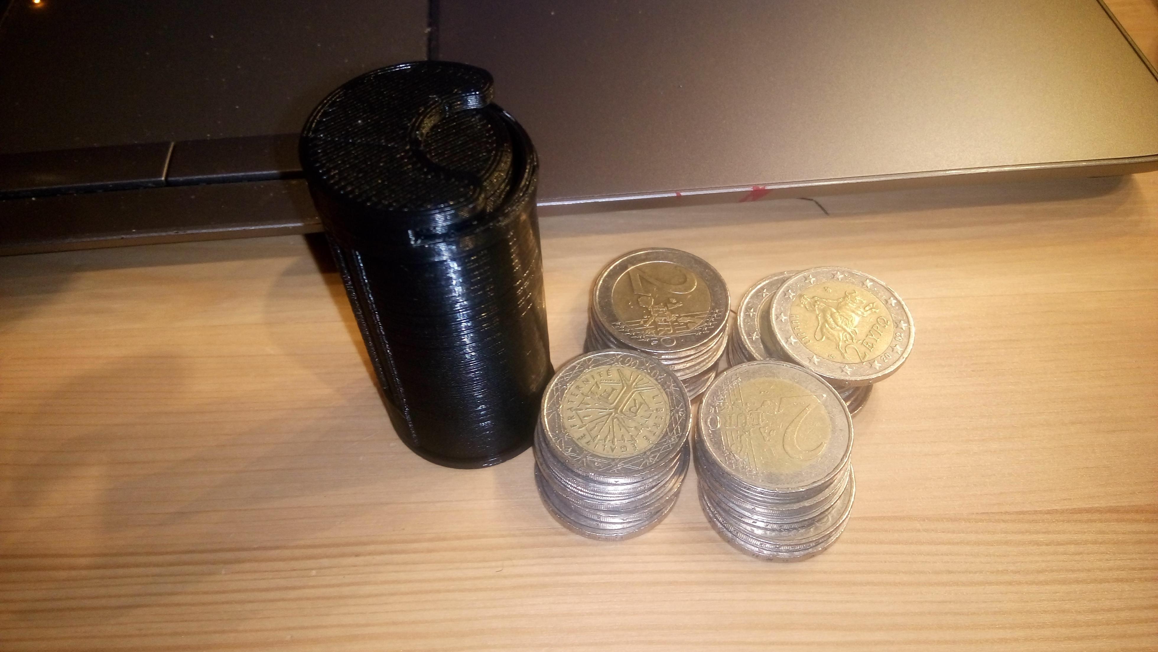 171025-DSC_2666.JPG Download free STL file 2 Euro Coin Magazine Dispenser • 3D print object, Milan_Gajic