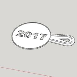 Télécharger fichier impression 3D gratuit 2017 pochoir à café nouvelle année, Milan_Gajic