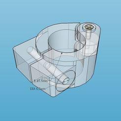 Download free 3D printer templates Mount Claw for 27mm Motorcycle Crash Bar, Milan_Gajic