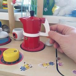 Download free 3D printer model Xenos Mokka/Espresso Pot Handle - To be used as toy, Milan_Gajic