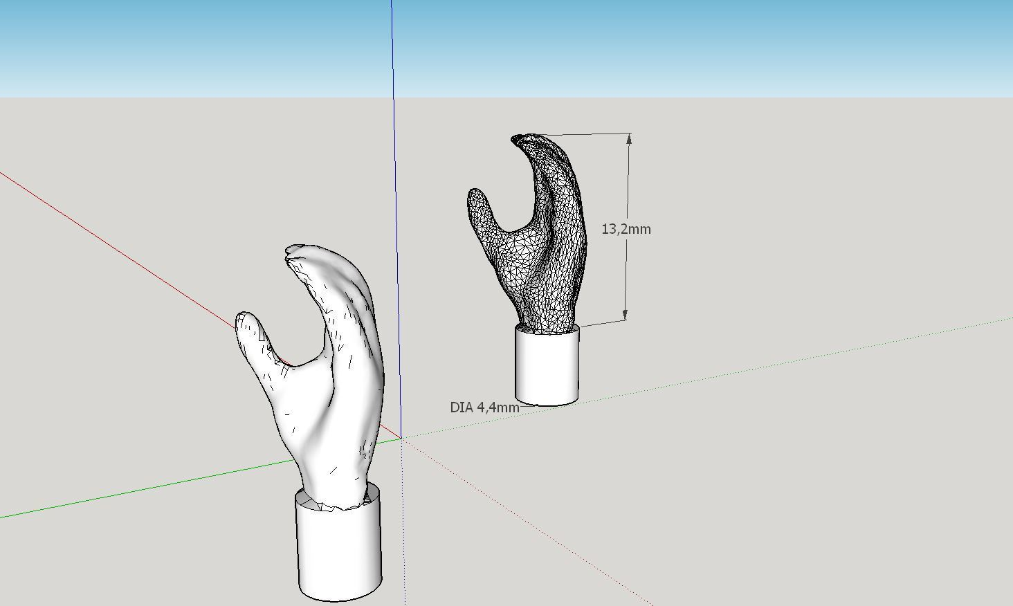 2016-10-17_11_38_22-MyScannedLegoMinifigHand_-_SketchUp_Make_2016.jpg Download free STL file Realistic Lego Minifig Hand (3d scanned) • Design to 3D print, Milan_Gajic