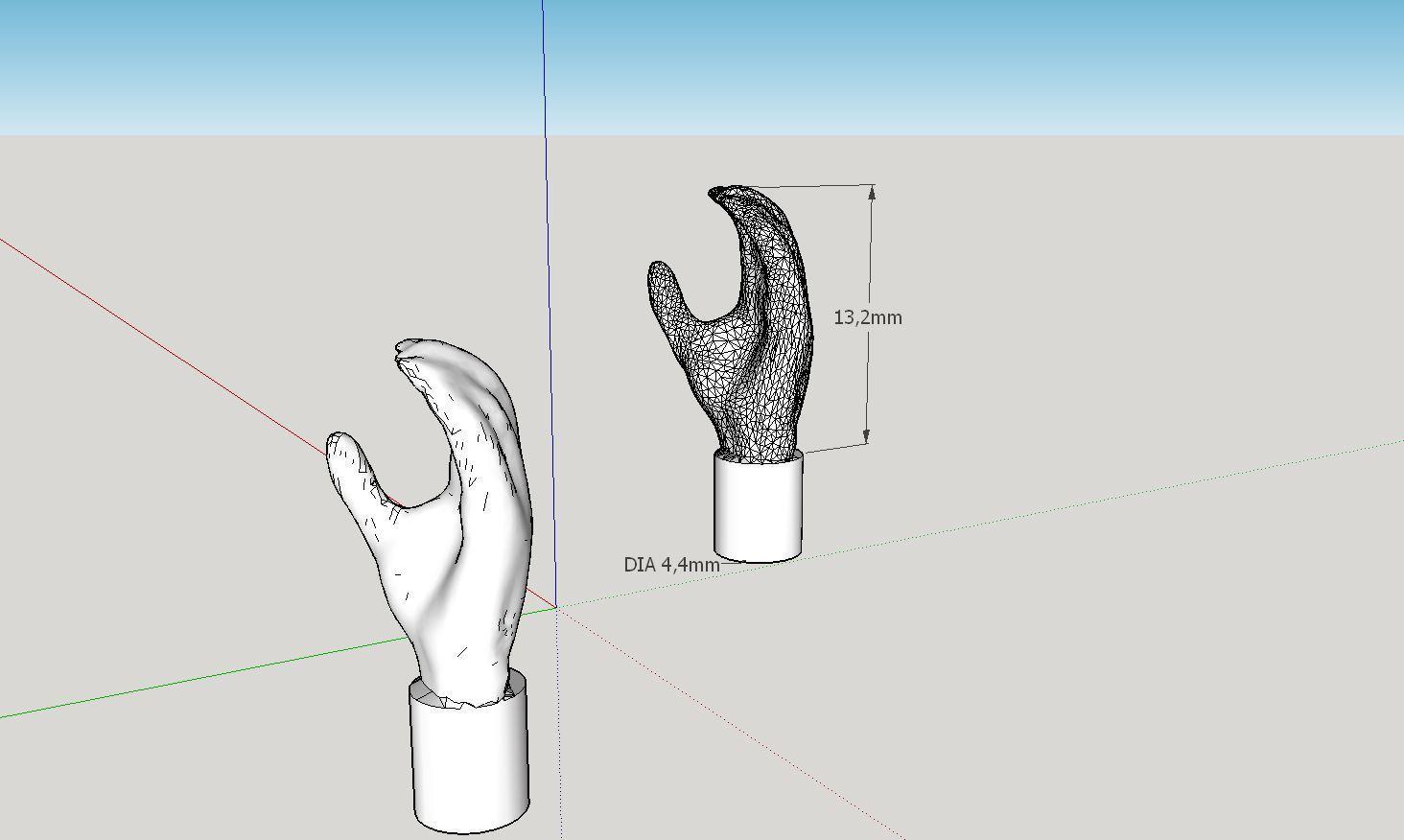 2016-10-17_11_38_22-MyScannedLegoMinifigHand_-_SketchUp_Make_2016.jpg Télécharger fichier STL gratuit Main réaliste en Lego Minifig (scanné en 3d) • Objet pour impression 3D, Milan_Gajic