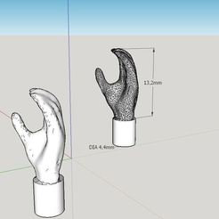 Download free STL file Realistic Lego Minifig Hand (3d scanned) • Design to 3D print, Milan_Gajic