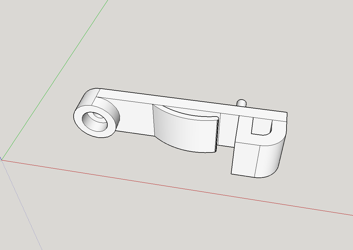 2018-03-11_18_26_55-Untitled_-_SketchUp.png Download free STL file Glass Shelf Holder 3mm/29mm Pelipal • 3D print template, Milan_Gajic