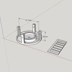 Télécharger STL gratuit Filtre de vidange de baignoire, monté sous vide (pièces de crochet Ikea STUGVIK), Milan_Gajic