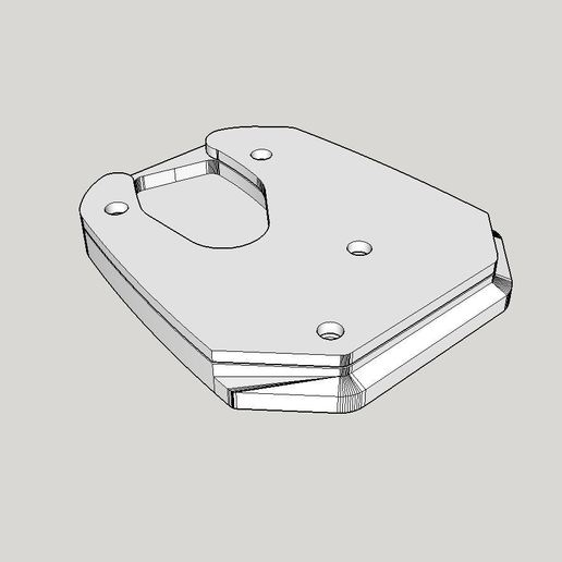 Download free 3D printing models Side Stand Extension V-Strom 1000 (14-16) - UNTESTED, Milan_Gajic