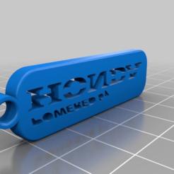Télécharger fichier imprimante 3D gratuit Porte-clés Honda simple, bravefruitcake