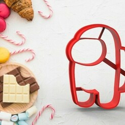 untitled.192.jpg Download STL file Among us - Cookie cutter • 3D printable design, pablito8108