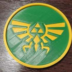 LOZCoaster.jpg Download free STL file Legend of Zelda Coaster • 3D printing object, rianocerous