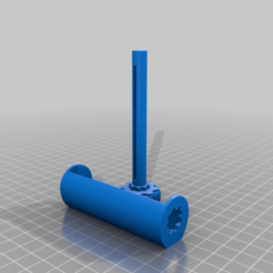Download free 3D printer files Toothpaste Tube Roller - Improved with longer shaft and bigger knob, rianocerous