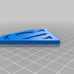 Superman_Logo.png Download free STL file Superman Coaster (2 or 3 Colors) • 3D printing object, rianocerous
