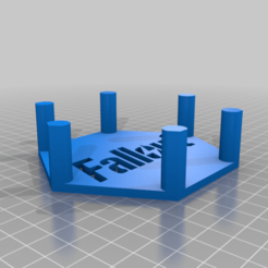 Fallout_Coaster_Holder.png Download STL file Fallout Vault Boy Coasters Set and Holder • 3D print template, rianocerous