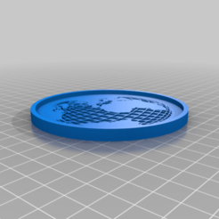 GlobeCoaster.png Download free STL file Globe Coaster (remixed from Globe Stencil STL) • 3D printable model, rianocerous