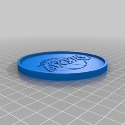 LakersCoaster.png Download free STL file Lakers Coaster • 3D printable model, rianocerous