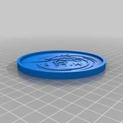 UnicornCoaster89mm.png Download free STL file Unicorn Coaster • 3D printing design, rianocerous