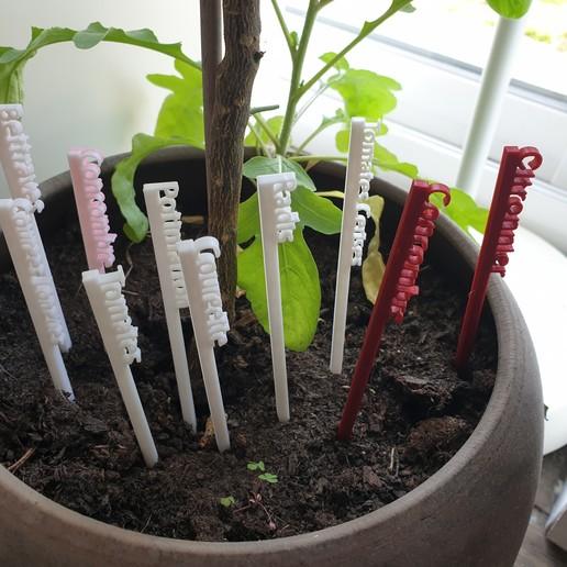 Télécharger fichier STL gratuit Etiquettes de jardinage en francais /  French Gardening labels • Objet pour impression 3D, ghostk082