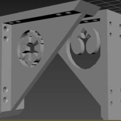 Descargar archivos 3D gratis Soportes de estantería de Star Wars, PopGoesFlat