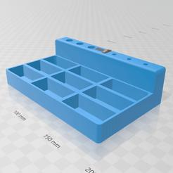 3D Builder 19_4_2020 20_47_02.png Download STL file Screw organizer • 3D print design, luchoalbizu