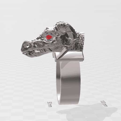 3D Builder 12_5_2020 21_19_44.png Download free STL file Dragon Ring Jewel Anillo de Dragón Joya • 3D print object, luchoalbizu