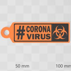 Télécharger fichier imprimante 3D gratuit Coronavirus Chaîne de clés covid19, luchoalbizu