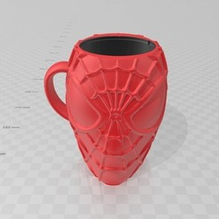 Descargar STL Spiderman Cup Glass Taza Vaso Mate , luchoalbizu