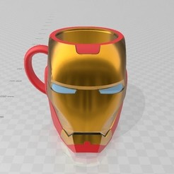Descargar modelo 3D Iron Man Cup Glass Taza Vaso Mate , luchoalbizu