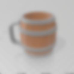 Download 3D printing models Barrel cup glass matt cup, luchoalbizu