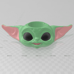 Download 3D printer files Babby Yoda Cup Glass Mug, luchoalbizu