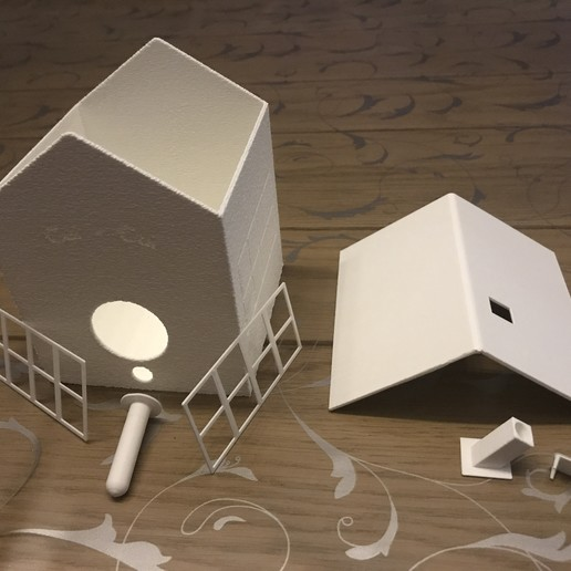 Download 3D printing designs Bird house, Cethian