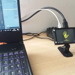 p1.jpg Télécharger fichier STL Boitier Ecran XPT2046 3.5 pouces HDMI pour Raspberry • Design imprimable en 3D, LePrestidigitateur