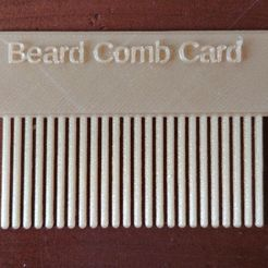 BCC1.jpg Download free STL file Beard Comb Card • 3D print design, abojpc