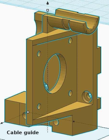 tg-cable_guide.jpg Télécharger fichier STL gratuit Geeetech Prusa i3 Pro B - Kit de migration E3Dv6 • Design pour impression 3D, abojpc