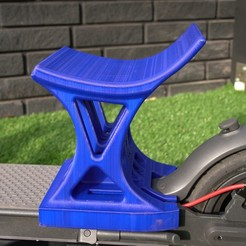 seat blue.jpg Download STL file MiniScoot3D Seat with and without Mud guard for Xiaomi 365 • 3D print design, LorenzoTano