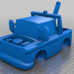 Download free STL file toy tow truck • 3D printer template, ampstar1