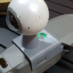 Télécharger fichier STL gratuit Mavic 2 Pro Adaptateur de monture de caméra zoom gopro et caméras 360 • Plan à imprimer en 3D, albertmoretto