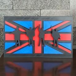 Télécharger fichier STL gratuit Les Beatles - Cadre d'aide • Objet imprimable en 3D, albertmoretto