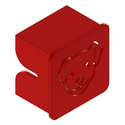 2d.PNG Download STL file ENDER 3 CUSTOM - X-AXIS COVER DOG • 3D printing template, ChickenPilot71