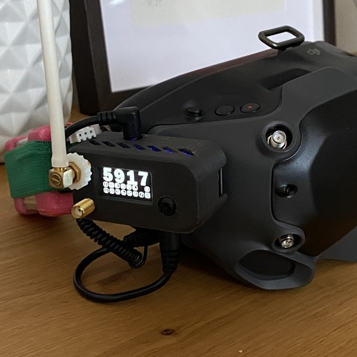 Download 3D printer model DJI Digital FPV Goggles RapidFire Analog Module Adapter V2, Petrfux