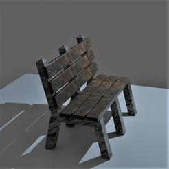Banc public.png Download OBJ file Garden bench • 3D printing object, castor0697